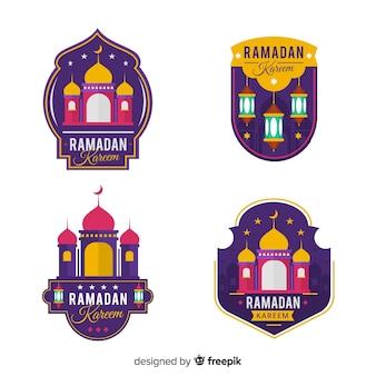 Kolekcja etykiet ramadanu