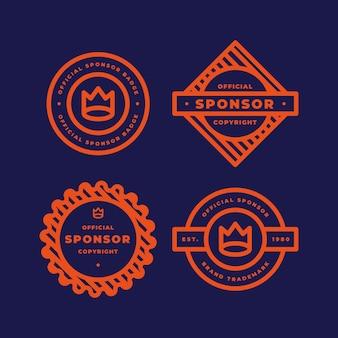 Kolekcja etykiet sponsora