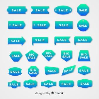 Kolekcja etykiet sprzedaży gradientowej