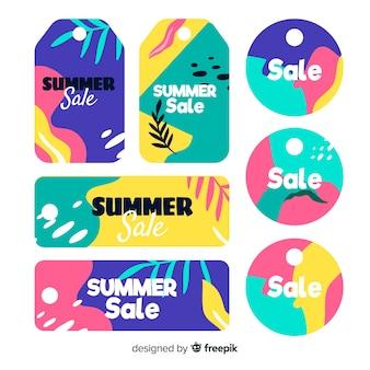 Kolekcja etykiet sprzedaży letniej