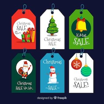Kolekcja etykiet świątecznej sprzedaży