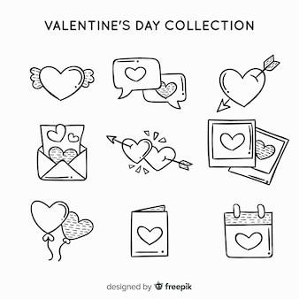 Kolekcja etykiet valentine