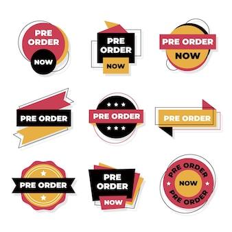Kolekcja etykiet w przedsprzedaży