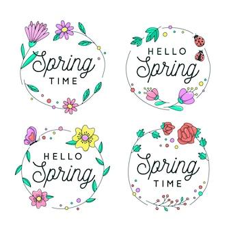 Kolekcja etykiet wiosennych