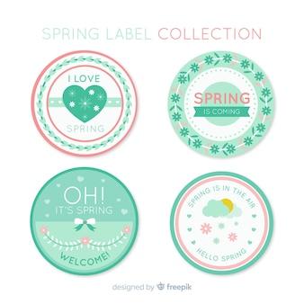 Kolekcja etykiet wiosna