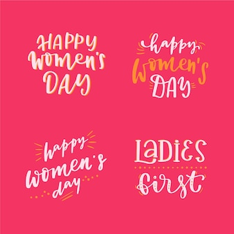 Kolekcja etykiet z okazji dnia kobiet