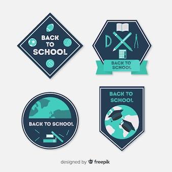 Kolekcja etykiet z powrotem do szkoły