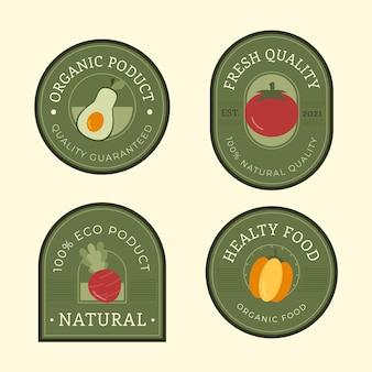 Kolekcja etykiet zdrowej żywności
