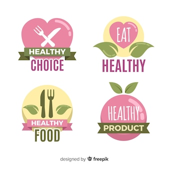 Kolekcja etykiet żywności ekologicznej
