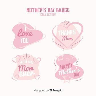 Kolekcja etykietek na dzień matki