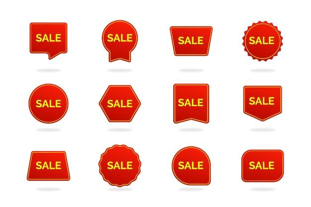 Kolekcja etykiety sprzedaży