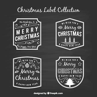 Kolekcja etykiety świąteczne tablica