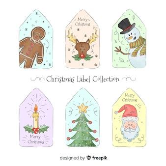Kolekcja etykiety świąteczne