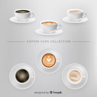 Kolekcja filiżanek kawy