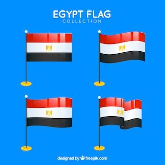 Kolekcja flag egiptu