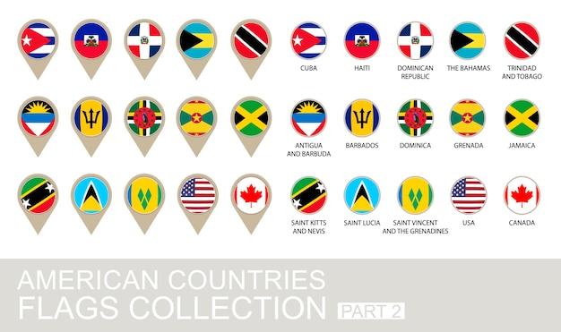 Kolekcja flag krajów amerykańskich, część 2, wersja 2