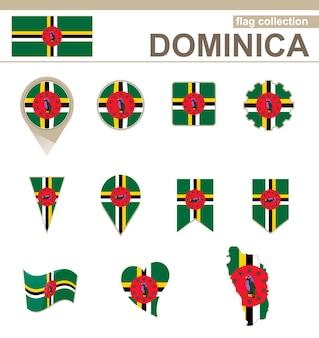 Kolekcja flaga dominika, 12 wersji