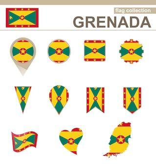 Kolekcja flaga grenady, 12 wersji