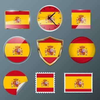 Kolekcja flaga hiszpania
