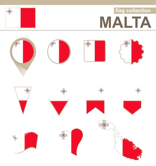 Kolekcja flaga malty, 12 wersji