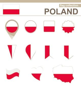Kolekcja flaga polski, 12 wersji