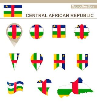 Kolekcja flaga republiki środkowoafrykańskiej, 12 wersji