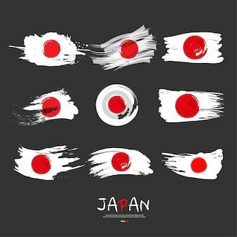 Kolekcja flagi japonii