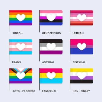 Kolekcja flagi płaskiej dumy