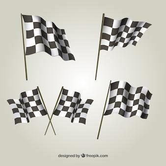 Kolekcja flagi w kratkę