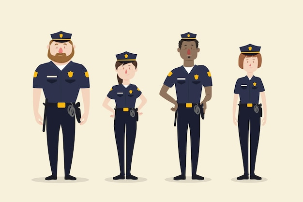 Kolekcja funkcjonariuszy policji