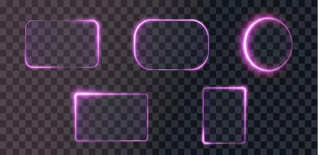 Kolekcja futurystycznej jasnoróżowej ramki hud tło technologiczne jasnoróżowe ramki png