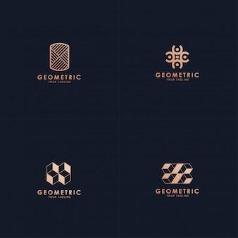 Kolekcja geometryczna logo.