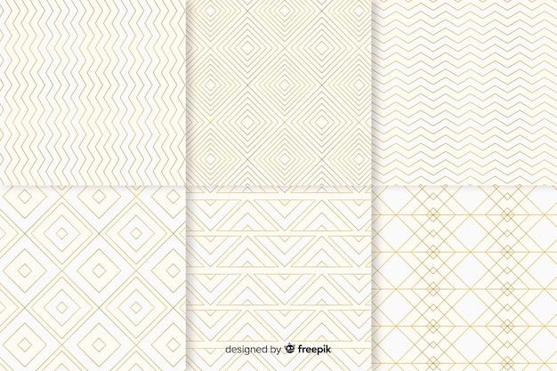 Kolekcja geometryczny jasny luksusowy wzór