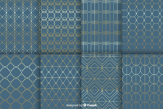 Kolekcja geometryczny wzór luksusu