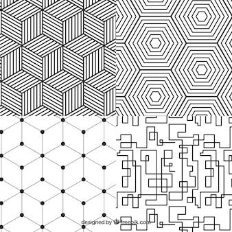 Kolekcja geometryczny wzór