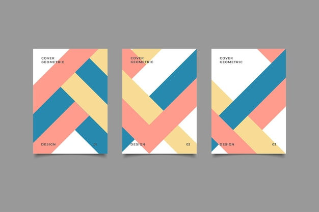 Kolekcja geometrycznych projektów okładek