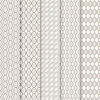 Kolekcja geometrycznych prostych wzorów bez szwu