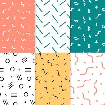 Kolekcja geometrycznych wzorów narysowanych