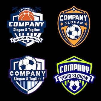 Kolekcja godło logo mistrza piłki