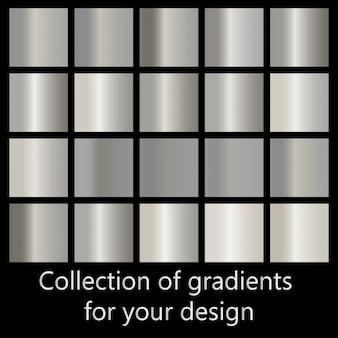 Kolekcja gradientów metali