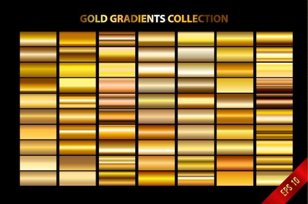 Kolekcja gradientów złota