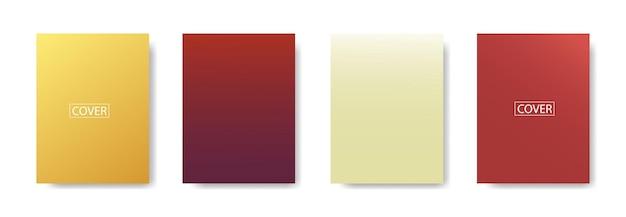 Kolekcja gradientowego tła dla banera ulotki plakatowej
