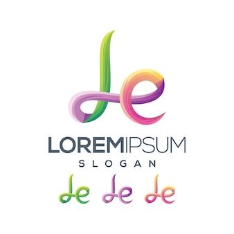 Kolekcja gradientu logo litery le