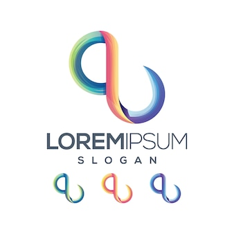 Kolekcja gradientu logo litery q