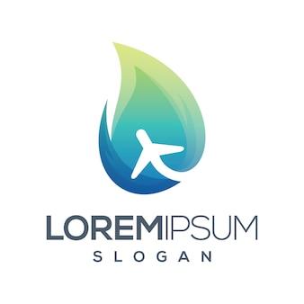 Kolekcja gradientu logo podróży ognia