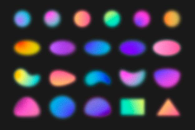 Kolekcja gradientu o ziarnistych kształtach