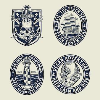 Kolekcja graficzna t-shirt z motywem morskim