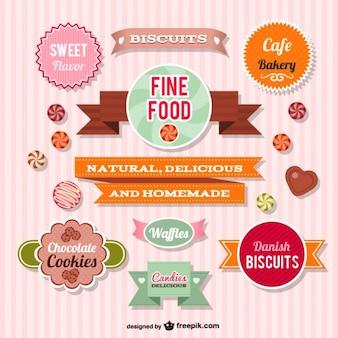 Kolekcja grafiki wektorowej słodycze