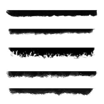 Kolekcja granic malowane w stylu grunge