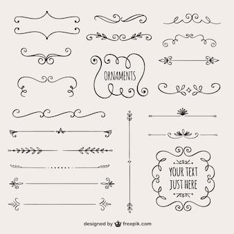 Kolekcja granice kaligraficzne